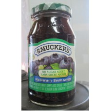 Jam - Wild Blueberry Jam  - No Sugar Added - Smuckers Brand / 1 x 450 ml