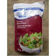 Bacon - Crumbled Bacon - 100% Real Bacon Crumbled - Fully Cooked / Never Ever Added Hormones  - Gluten Free  / 1 x 567 Gram Bag Resealable