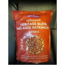 Rice - Sprouted Heritage Blend - Blend Of Japonica,Black,& Red Sprouted Rice - Purerepublic Brand -  3G Fibre & 4G Protein / 1 x 1.81 Kg / 4 lb Bag