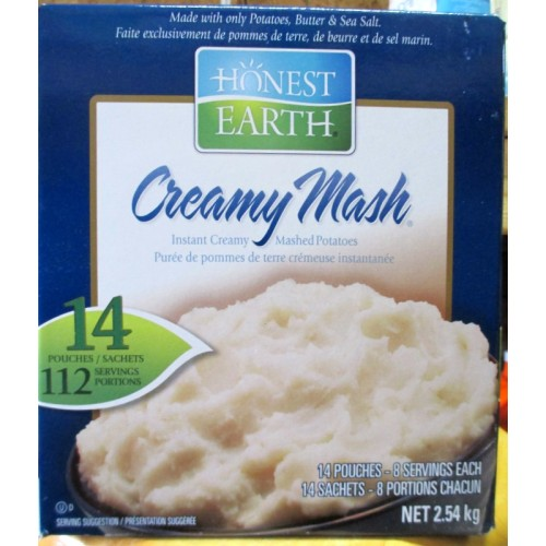 Potatoes Mashed Instant Honest Earth