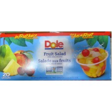 Fruit Cups - Dole Brand - Variety Pack - Fruit Salad & Peaches - 10 Of Each / 1 x 20 cups x 107 mL