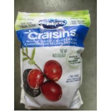 Raisins - Ocean Spray Brand - Craisins - Gluten Free / 1 x 1.8 Kg Bag - Resealable Bag - NEW MEGA SIZE BAG