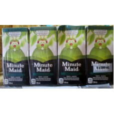 Juice - Apple Juice - Minute Maid Brand  - No Sugar Added -No Preservatives -  100% Apple Juice From Concentrate /  24 x 200 ml Boxes