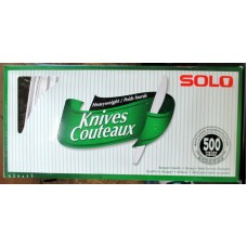 Cutlery - Knives - White Plastic Knives - Solo Brand  / 1 x 500 Pieces