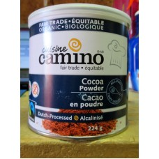 Baking - Cocoa - Organic Cocoa Powder  - Gluten Free - All- Purpose - Dutch-Processed - Camino Brand - 1 x 224 Gram