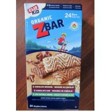 Granola- Clif Kid Organic Bars - Nourishing Kids In Motion - Organic - 8 x Chocolate Brownie & 8 x Chocolate Chip & 8 x Iced Oatmeal Cookie - 24 x 36 Gram Bars