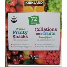 Fruit - Organic Fruity Snacks - Fruit Flavoured Snacks - Organic - Kirkland Brand / 72 x 23 Gram Pouches / 1.63 Kg Box