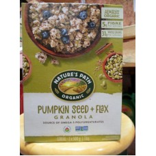 Cereal - Pumpkin Seed & Flax Granola  - ORGANIC & NON GMO -  Nature's Path Brand - / 2 x 500 Grams / 2.2 lbs
