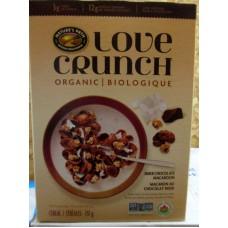Cereal - Love Crunch - Organic - NON GMO - Dark Chocolate Macaroon - Cereal Flakes,Granola & Italian Dark Chocolate - Natures Path Brand  / 1 X 737 Gram Box
