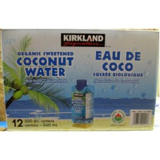 Water -  Coconut Beverage - Sweetened - Organic - Not From Concentrate - Kirkland Brand / 12 x 330 ml Cartons