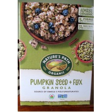 Cereal - Nature's Path Brand - Pumpkin Flax Granola - Organic / 2 x 500 Grams / 2.2 lbs