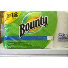 Towel - Bounty Brand - Paper Towel - Select  A  Size - 2 Ply -  12 Rolls x 83 Sheets / Mega Size / ON SPECIAL PRICE / LIMITED SUPPLY