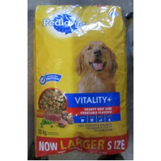 "Pet Supplies - Dog Food Dry -  Pedigree Brand - Pedigree -  Beef Flavour & Vegetable Flavour - Vitality + / 1 x 20 Kg Bag """"See Details"""""