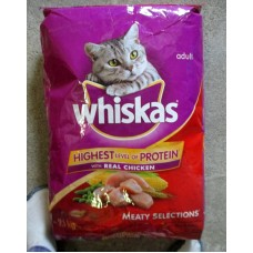 Pet Supplies - Cat Food Dry - Whiskas Brand - Meaty Selections With Real Chicken /  1 x  9.1Kg
