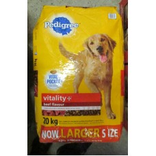 "Pet Supplies - Dog Food Dry -  Pedigree Brand - Pedigree -  Beef Flavour - Vitality + / 1 x 20 Kg Bag """"See Details"""""