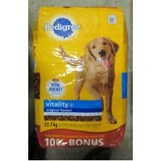 Pet Supplies - Dog Food Dry - Pedigree Brand - Vitality+ /   Original / 1 x 22 .7 Kg  / Mega Size / ON SPECIAL
