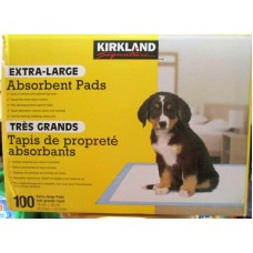 "Pet Supplies - Absorbent Pads -  Extra Large - Kirkland Brand - Mega Size Box 1 x 100 Pads / 30 ""x 23"""