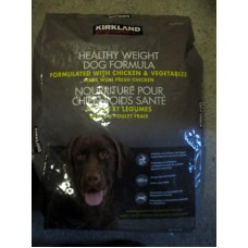 Pet Supplies - Dog Food Dry - Healthy Weight Dog Formula - Chicken & Vegetables - Made With Fresh Chicken - Kirkland Brand - 1 x 18.14 Kg Bag Kg