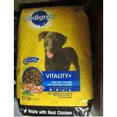 Pet Supplies - Dog Food Dry - Pedigree Brand - Vitality+  / Original Roasted Chicken  And Vegetable Flavour / 1 x 20 Kg