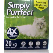 Pet Supplies - Cat Litter - Purrfect  Brand - Scoopable Cat Litter 1 x 20 Kg  / 44.4lbs / MEGA SIZE