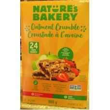 Granola - Oatmeal Crumble - Natures Bakery Brand - NON GMO -  12 Strawberry & 12 Apple / 24 x 40 Gram Bars