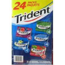 Gum - Trident - Variety Pack - 1 x 24 Packs / Sugar Free - See Pictures For More Details