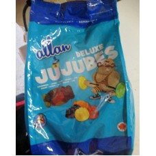 Candy - Jujubes - Deluxe Jujubes - 5 Flavours  - Peanut Free -  Allan Brand / 1 x 2.5 Kg Resealable Bag