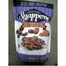 Chocolate - Snappers Brand - Gourmet Caramel & Pretzel Treats - Dark Chocolate - Sea Salt Caramel - Crunchy & Sweet / 1 x 680 Gram Resealable Bag