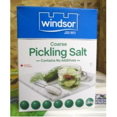 Spice - Salt -  Pickling Salt - Coarse - Contains No Additives - Winsor Brand / 1 x 1.36 Kg / 3 lbs