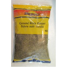 Spice - Black Pepper -  Ground Black Pepper - Suraz Brand - 1 x 400 Gram Bag