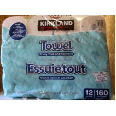 Towel - Kirkland Brand  - Paper Towels - Individually Wrapped Rolls - Create A Size /  12 Rolls x 160 Sheets