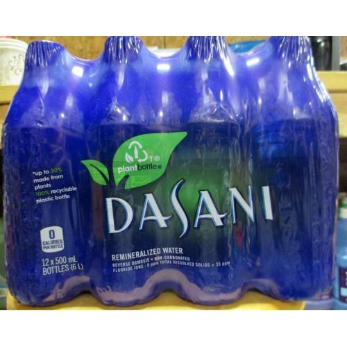 Water Bottle Dasani: Water,beverage,remineralized,dasani