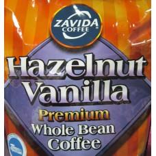 Coffee - Zavida Brand - Hazelnut Vanilla Premium - Whole Bean - 100% Arabica / 1 x 907 Gram Bag / ON SPECIAL