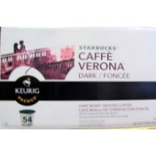 Coffee - Keurig Cups  - Starbucks Brand - Cafe Verona Dark  / 1 x 54 Cups