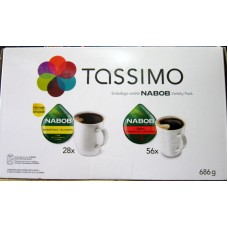 Coffee - Tassimo - T - Discs - Nabob Brand - Extra Large Serving Size  / 1 x 84 Discs / 28 Nabob Breakfast & 56 100% Nabob Colombian / 1x 84 Discs