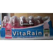 "Water - Kirkland Brand - Vitarain - Vitamin & Mineral Enhanced Water Beverage / Variety Pack / 24 x 591 ml bottles """"see details"""""