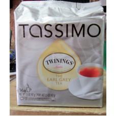 Tea - Tassimo Brand - Twinnings - The Earl Grey Tea - T- Discs / 1 x 16 Pods