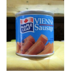 Sausages - Vienna Sausage - Maple Leaf Brand  / 4 x 113 Gram Cans