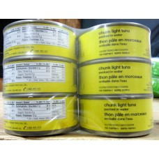 Tuna - No Name Brand - Chunk Light Tuna - / 4 x 170 Grams Cans  /