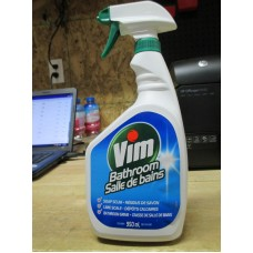 Cleaner - Bathroom Cleaner - Vim Brand  / 1 x 950 mL Spray Bottle