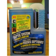 "Cleaner - Septic System Treatment - CLR Brand- Dual- Purpose Septic System Ttreatment & Drainage Care / 1 x 828 ml""""See Pictures For More Details"""""
