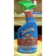 Cleaner - All Purpose Cleaner - Fantastik Brand - Disinfectant - Scrubbing Bubbles With Bleach / 1 x 650 ml Sprayer Bottle