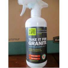 Cleaner - Counter Top -  Better Life Brand - Natural Countertop Cleaner - 100% Plant Derived - Use On Marble Or Quartz - Pomegranate Grapefruit Scent - Streak Free / 1 x 473 ml Sprayer Bottle
