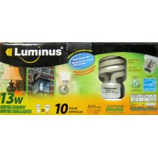 Bulbs -  Luminus Brand - 13 Watts / 60 Watt Bulb  - Energy Efficient - 1 x 10 Bulbs /  $1.49  Per Bulb