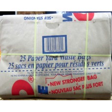 Garbage Bags - Paper Yard Waste Bags 1 x 25's / ON SPECIAL