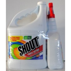 Detergent - Laundry Stain Remover -  Stain Remover - Shout Brand  / 1 x 3.8 Liter Jug & 1 x  887 ml Trigger Spray Bottle