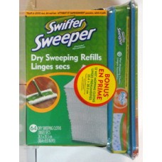 Cleaner - Swiffer - Sweeper Refills  - 64 Dry Sweeping Refills With Bonus Of 12 Wet Mopping Cloths With Febreze Scent