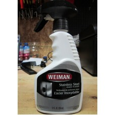 Cleaner - Stainless Steel Cleaner & Polish - Weiman Brand / 1 x 355 ml Trigger Spayer Bottle