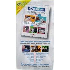 Wipes - Optico Brand - Cleaning Wipes - For Optical & Electronic Surfaces /  3 Boxes Of 48 Cloths / 144 Total