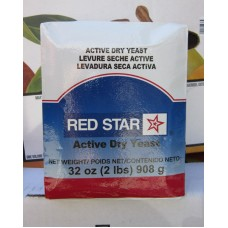 Baking - Yeast - Red Star Brand  / Active Dry Yeast /  1 x 2 lbs / Mega Size